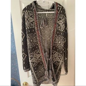 Free People Long Cardigan with Ties Size XS